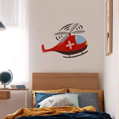 Adesivo murale -elicottero dei pompieri