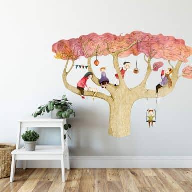 Sticker mural - Loske - Arbre d'automne