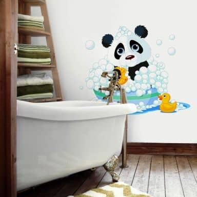 Sticker mural - Panda dans son bain