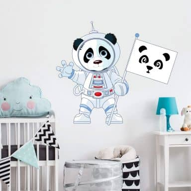 Panda in Space - Wall Sticker