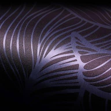 Metallicfolie Luxury Metallics baana leaves aluminium negative - selbstklebend - 150x45 cm