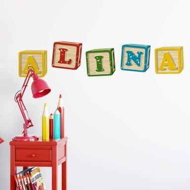 Toy Bricks Alphabet Wall sticker