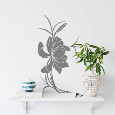 Asian Flower Wall sticker