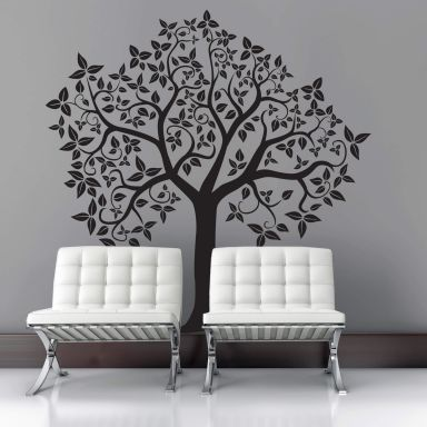 wandtattoo baum ranken wall. Black Bedroom Furniture Sets. Home Design Ideas