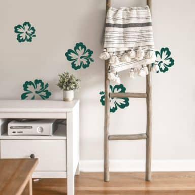 Hibiscus Blossoms 5 Pcs Set Wall sticker