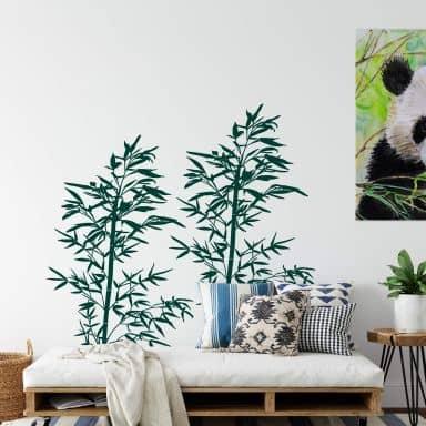 Wandtattoo Wilder Bambus