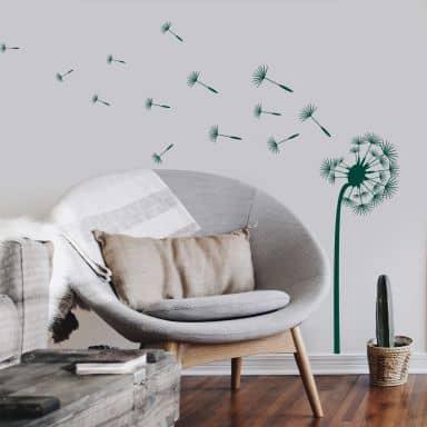 Adesivo murale - Soffione nel vento