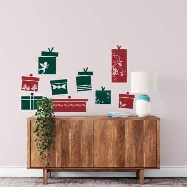 Muursticker Set Cadeautjes 2-kleurig
