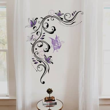Flower Tendril 5 (2 colours) Wall sticker