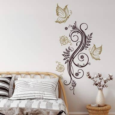 Flower Tendril 8 (2 colours) Wall sticker