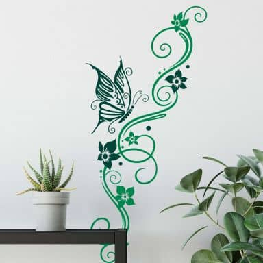 Flower Tendril 9 2-colours Wall sticker