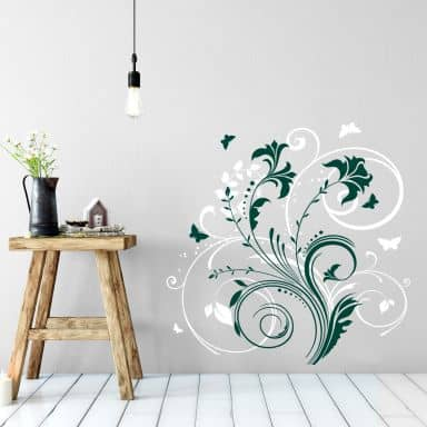 Flower Tendrils 10 Wall Sticker