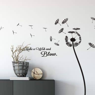 Dandelion - Make a wish and blow Wall sticker