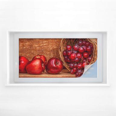 Sichtschutzfolie Perfoncio - Rote Früchte - Panorama