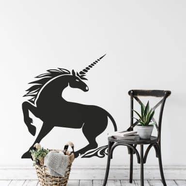 Sticker mural - Licorne