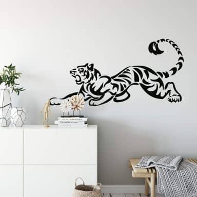 Sticker mural - Tigre Rugissant