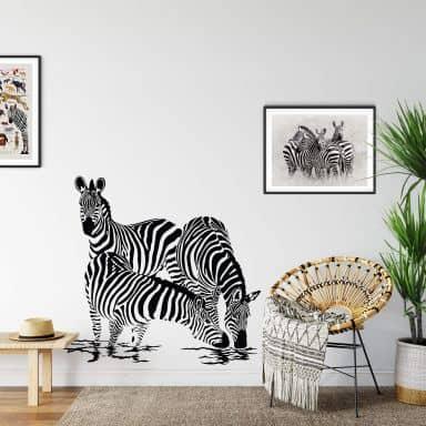 Zebras 2 Wall sticker