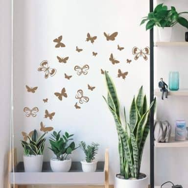 Wandtattoo Schmetterlingsschwarm