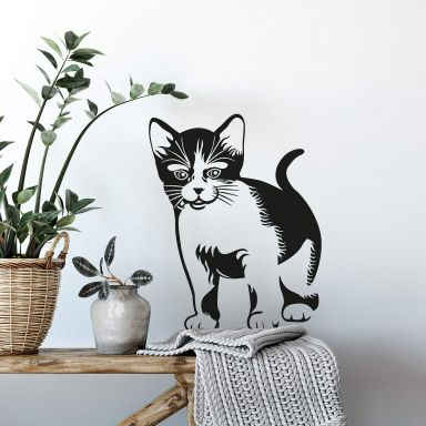 Sticker mural - Chat