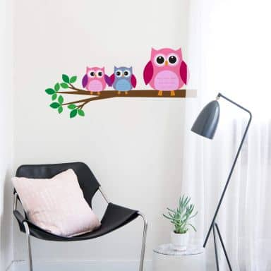 Branch with Owls 1 Wall sticker