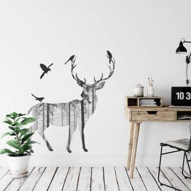 Deer Silhouette 1 Wall sticker