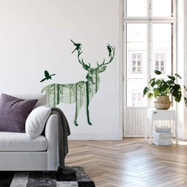 Sagoma di cervo in verde