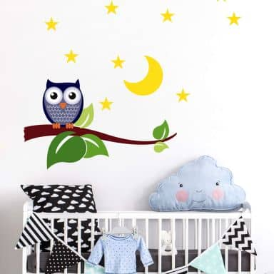 Night Owl Wall sticker