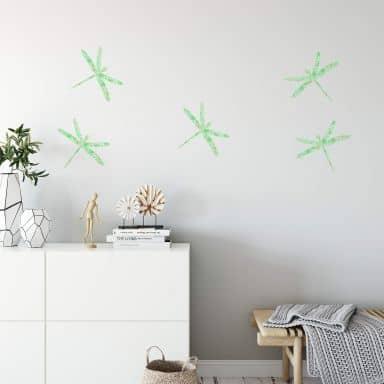 Wandtattoo Libellen Set (Muster)