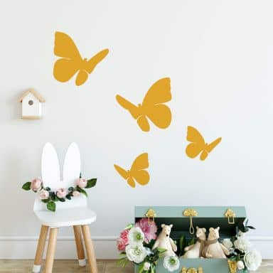 Butterflies Set (4-pieces) Wall sticker