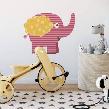 Wandtattoo Elefant (Muster)