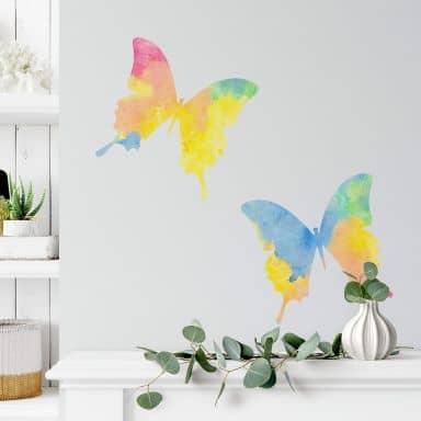 Sticker mural - Couple de papillons