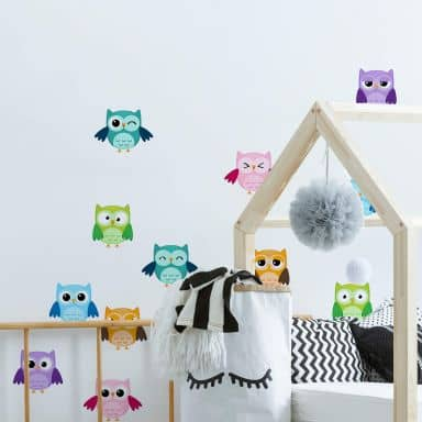 Owls Set - Wall Sticker