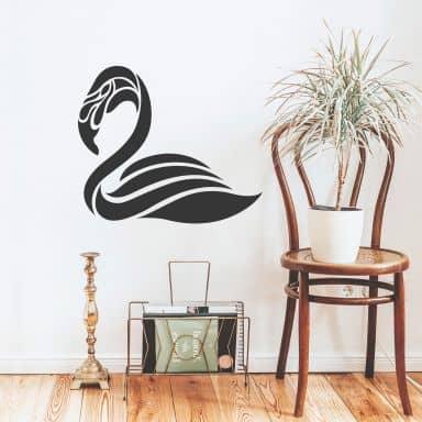 Wandtattoo Flamingo (abstrakt)