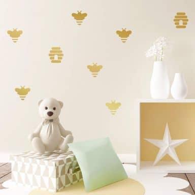 Sticker mural - Set abeilles