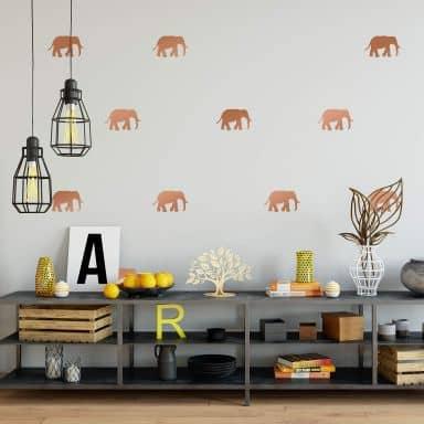 Wandtattoo Elefanten Set