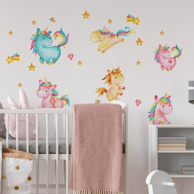 Wall sticker set Unicorns