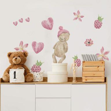 Wall sticker Set Teddy Bear in watercolour