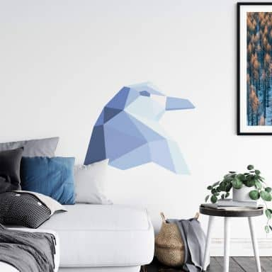 Wall sticker Penguin in geometric shape