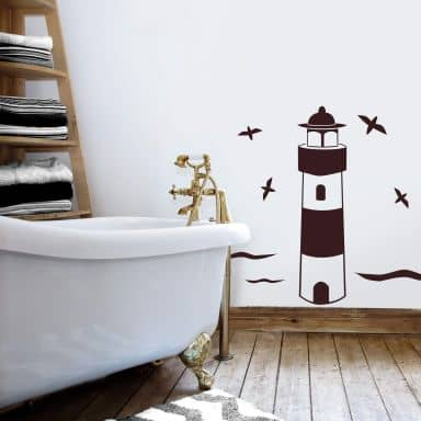 Sticker mural - Phare