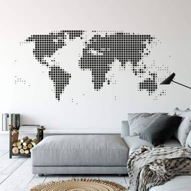 World Map Abstract Wall sticker