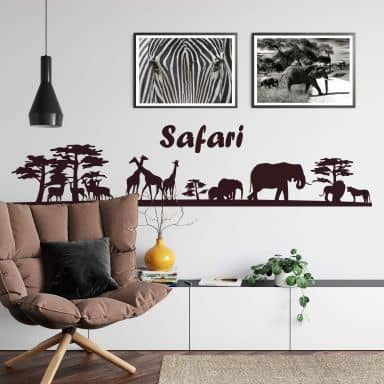 Sticker mural - Safari