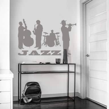 Muursticker Jazz Kwartet