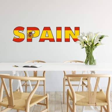 Wandtattoo Spain Schriftzug