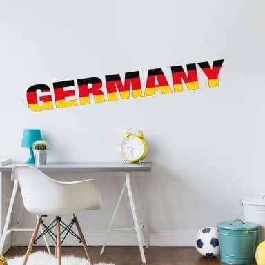 Wandtattoo Germany Schriftzug