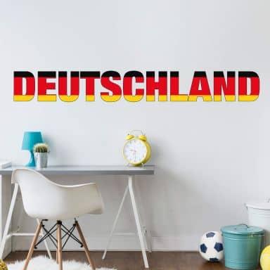 Wandtattoo Deutschland Schriftzug
