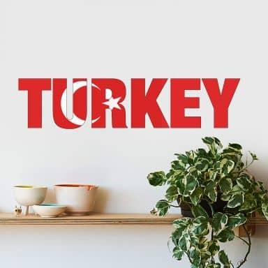 "Scritta ""Turkey"""