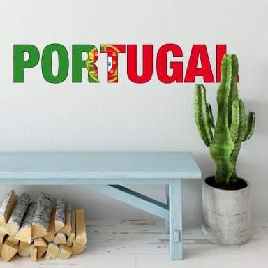 Wandtattoo Portugal Schriftzug
