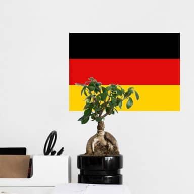 Wandtattoo Deutschland Fahne