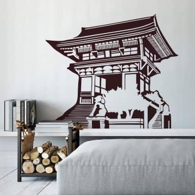 Asian Temple Wall sticker