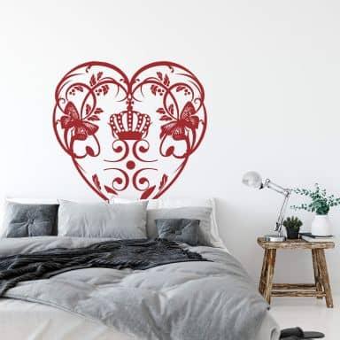 Crown Heart Wall sticker